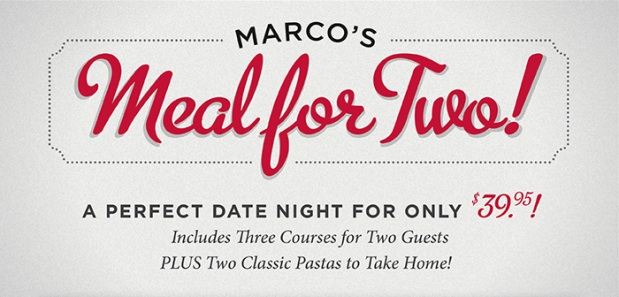 Maggiano's Marco's Meal for Two